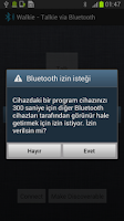 Screenshot of Walkie - Talkie via Bluetooth