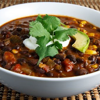 Black Bean and Roasted Pepper Soup.