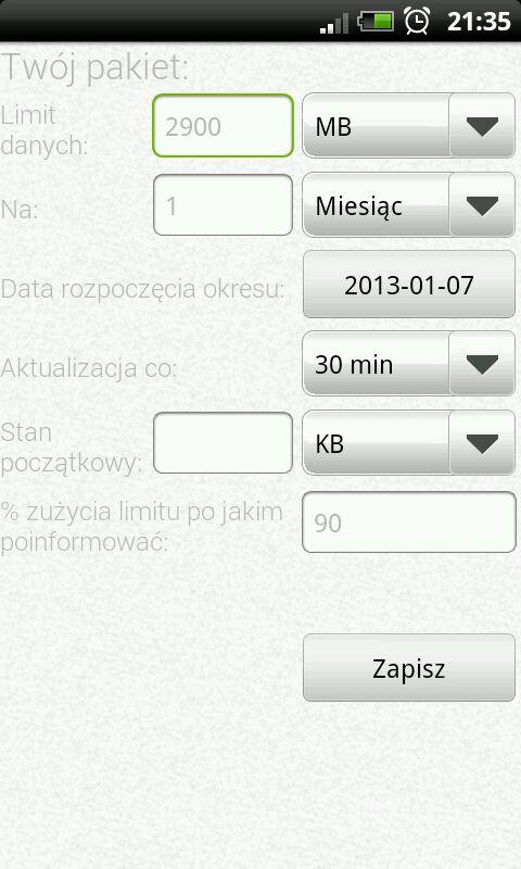 Mobile Counter 3G/Wi-fi - screenshot