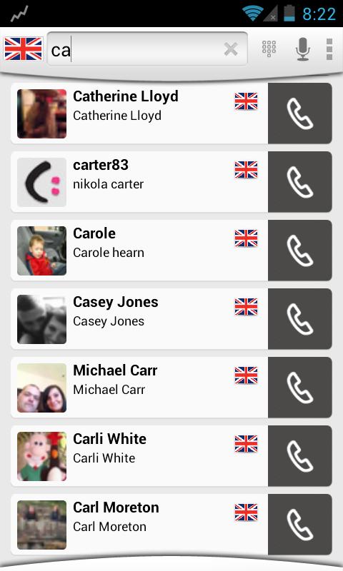 CallmyName -Dialer & Caller ID - screenshot