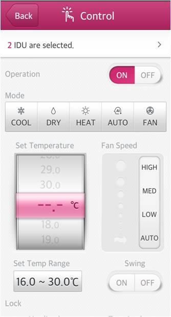 LG System Air Conditioner - screenshot