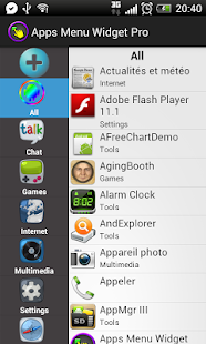 Apps Menu Widget Free - screenshot thumbnail