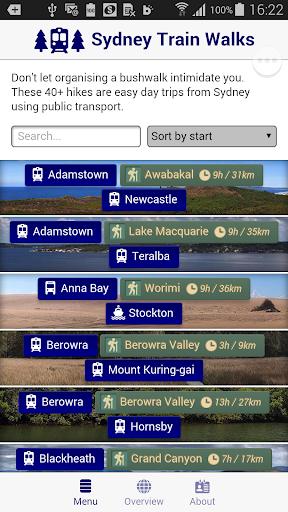 Sydney Train Walks