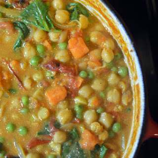 Vegetarian Coconut Chickpea Curry.