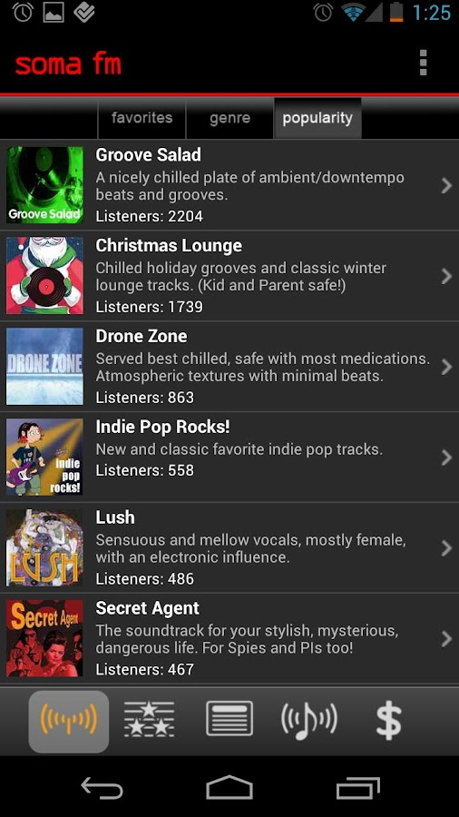 SomaFM Radio Player - screenshot