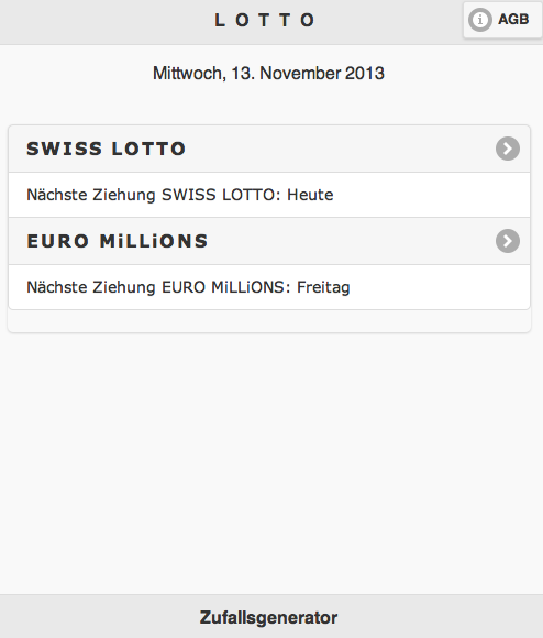 Swiss Lotto Euro Millions