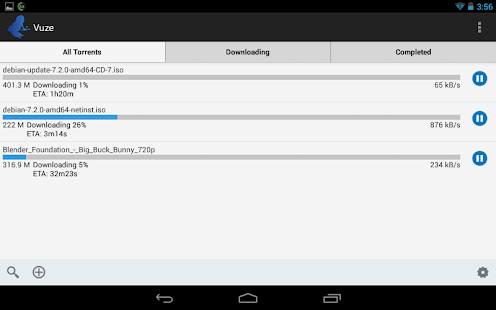 Vuze Torrent Downloader Screenshot