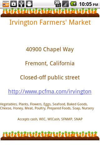 Farmers Market Locator- screenshot