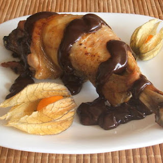 Chicken With Chocolate Sauce.
