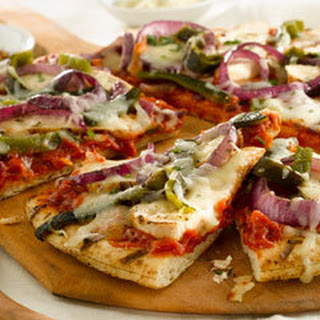 Chicken Fajita Grilled Pizzas.
