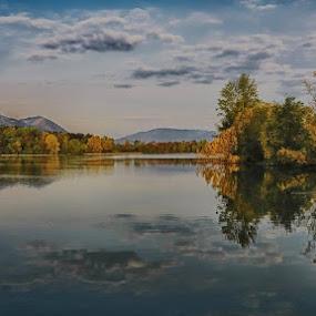 Vrbensko jezero... by Jani Matko - Landscapes Cloud Formations