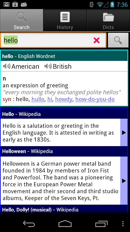 ColorDict Dictionary Wikipedia - screenshot