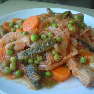 Pork Chops with Vegetables.