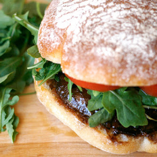 Grilled Portobello Mushroom Sandwiches with Basil Aioli.