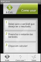 Screenshot of kCalc Juros
