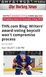 The Hockey News - screenshot thumbnail