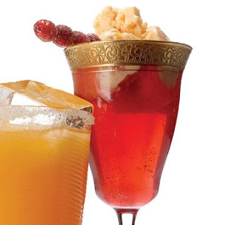 Cranberry and Orange-Sherbet Punch