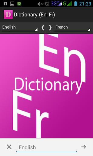 Dictionary En-Fr