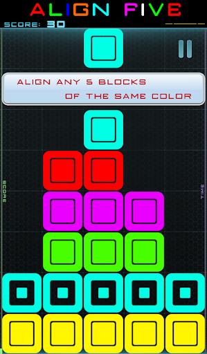 ALIGN FIVE 五色块拼图