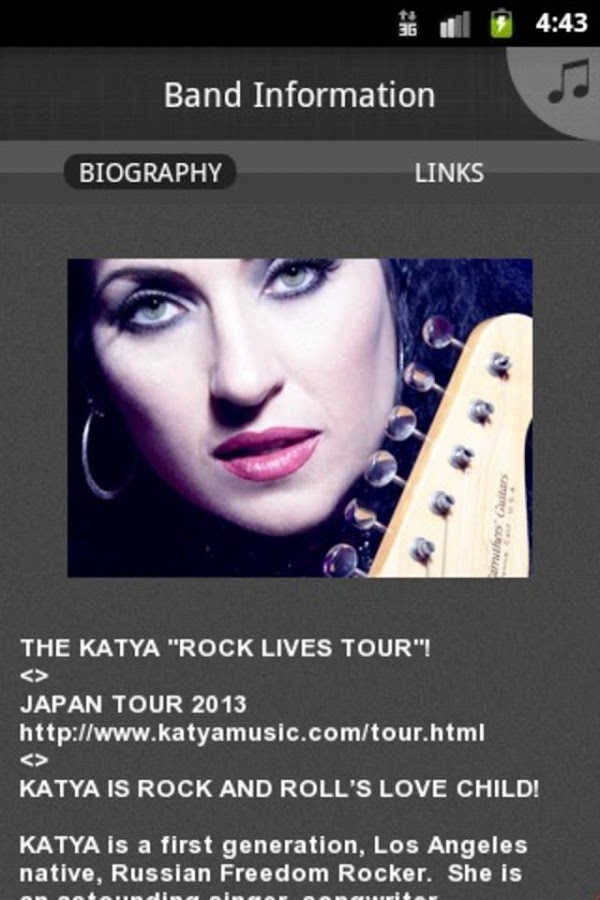 KATYA of KATYAMUSIC.com - screenshot