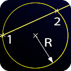 Line and Circle Intersection icon