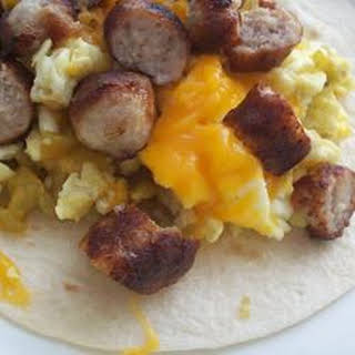 Tasty Breakfast Burritos.