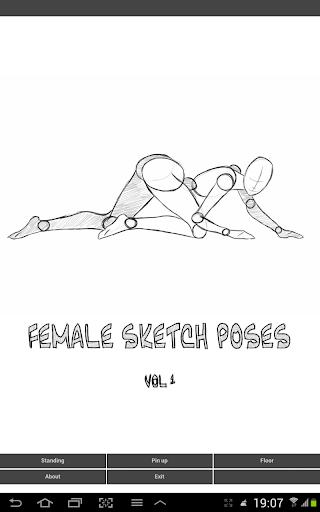 Female Sketch Poses vol.1