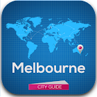 Melbourne Guide Map & Hotels icon