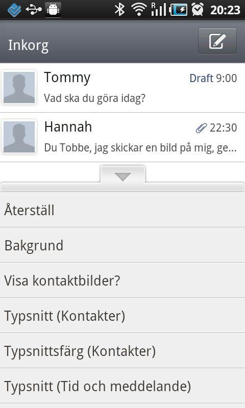 GO SMS Pro Swedish language pa - screenshot