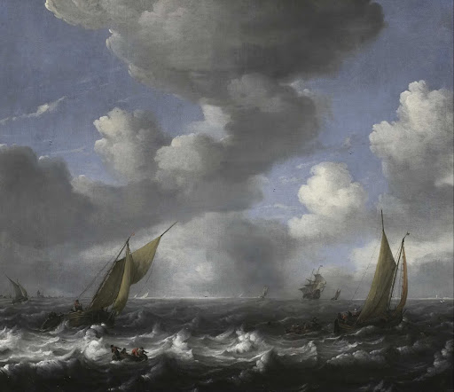 Seascape and Fishing Boats