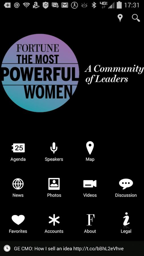 Fortune Most Powerful Women - screenshot