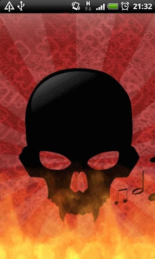 Music Fire Skull L Wallpaper