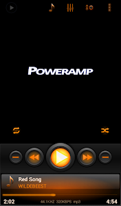 Mad Jelly Amber Poweramp Skin v1.1.1