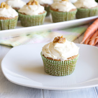 Whole Wheat Carrot Cupcakes.