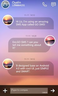 GO SMS Pro Ease Theme EX - screenshot thumbnail