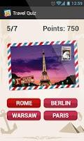 Screenshot of Travel Quiz Guess