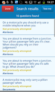 Motorcycle Theory Test - screenshot thumbnail