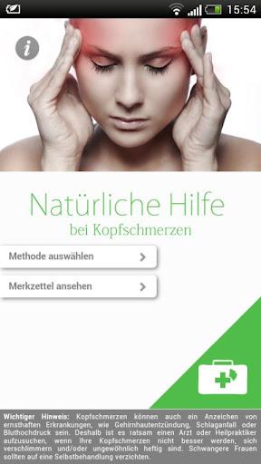 Kopfschmerz - Natürliche Hilfe
