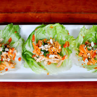 Buffalo Chicken Lettuce Cups.