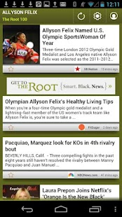 Allyson Felix: The Root 100 - screenshot thumbnail