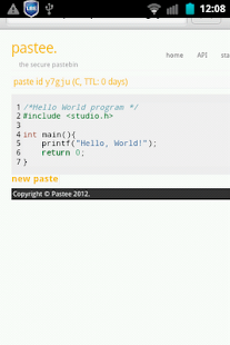 Pastee Droid- screenshot thumbnail