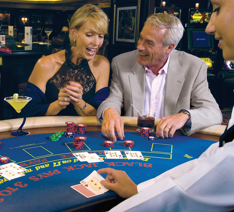 Try your luck over a game of blackjack in Oceania Insignia's casino.