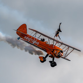 Wing Walker by Mark Usher - Transportation Airplanes ( wing, walker, bournemouth, dorset, airshow )