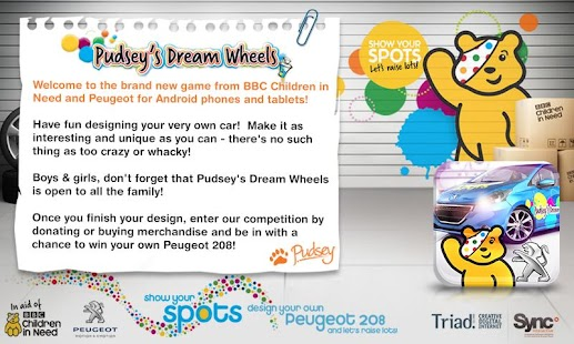 Pudsey's Dream Wheels- screenshot thumbnail