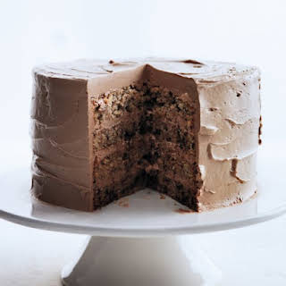 Chocolate-Flecked Layer Cake with Milk Chocolate Frosting.