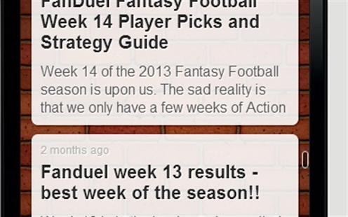 Daily Fantasy Football Advice