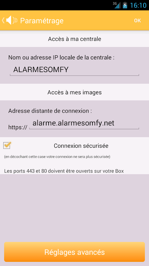 alarme somfy applications android sur google play. Black Bedroom Furniture Sets. Home Design Ideas