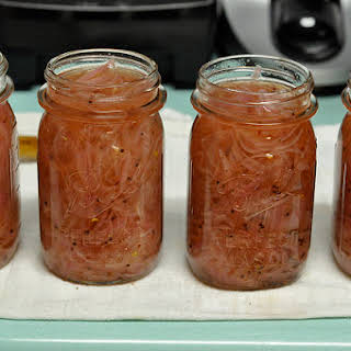 Sweet and Sour Pickled Red Onions.