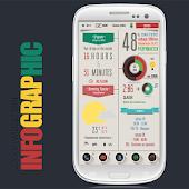 Infographic Zooper Widget Skin