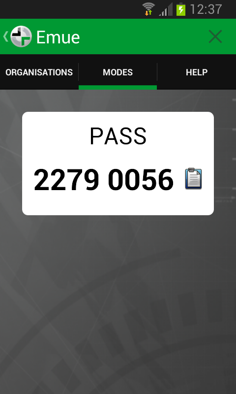 Emue Enterprise Authenticator- screenshot